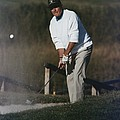 President George Bush Plays Golf by Everett