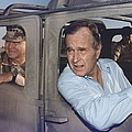 President George Bush Riding In An by Everett