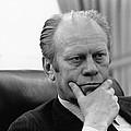 President Gerald Ford Listening by Everett