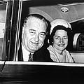 President Lyndon B. Johnson And First by Everett
