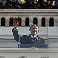 President Obama Gestures As He Delivers by Everett