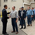 President Obama Greets Workers At Shift by Everett