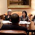 President Obama Listens To Nancy-ann by Everett