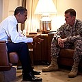 President Obama Meets With Army Gen by Everett