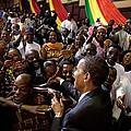 President Obama Shakes Hands by Everett