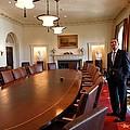 President Obama Surveys The Cabinet by Everett