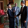 President Obama Talks With Commerce by Everett