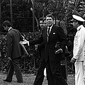 President Reagan Gestures To Members by Everett