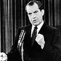 President Richard Nixon During A News by Everett