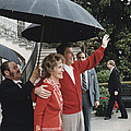 President Ronald Reagan And First Lady by Everett