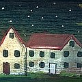 Prim Houses All In A Row by Sylvia Pimental