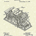 Printing Press 1863 Patent Art by Prior Art Design
