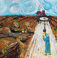 Prophetic Message Sketch 15 Daniel The Lion's Den And The Whirlwind by Anne Cameron Cutri