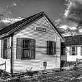 Provincetown Cottages Bw by Lucia Vicari