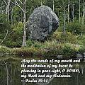 Psalm 19 V14a by Joe Faherty
