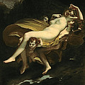 Psyche Transported To Heaven by Pierre-Paul Prud hon
