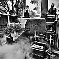 Puffing Billy Black And White V2 by Douglas Barnard