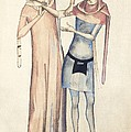 Pulse Measurement, 14th Century Artwork by Sheila Terry