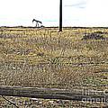 Pumping Oil On The Texas Prairie by Merton Allen