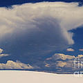 Pure White Sand And Mountain Storms by Roena King