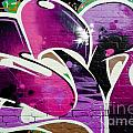 Purple Abstract Graffiti Detail by Yurix Sardinelly
