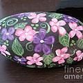 Purple And Pink Flowers by Monika Shepherdson