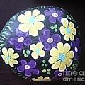Purple And Yellow Flowers by Monika Shepherdson