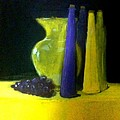 Purple And Yellow Still Life by Matthew Dean