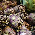 Purple Artichokes At The Market by Heather Applegate