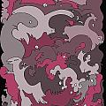 Purple Creatures by Barbara Marcus