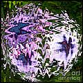 Purple Daisies World - Abstract Art by Carol Groenen