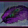 Purple Feather by Donna Bentley