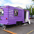 Purple Food Truck by Kym Backland