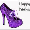 Purple Glitter Pump by Maralaina Holliday