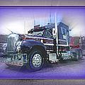 Purple Mack Abstract by Randy Harris