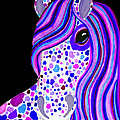 Purple Spotted Horse by Nick Gustafson