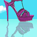 Purple Stilt Stilettos Reflections by Elaine Plesser