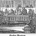 Quaker Marriage, 1842 by Granger