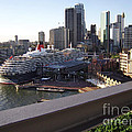 Queen Victoria Berthed In Sydney by Kaye Menner