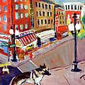 Queenie On Forsythe Street Manhattan Nyc by Elzbieta Zemaitis