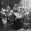 Quilting Party, 1864 by Granger