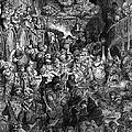 Rabelais: Gargantua And Pantagruel.  Illustration Of The Life Of Gargantua And Of Pantagruel By Fran�ois Rabelais. Wood Engraving, 1873, After Gustave Dor� by Granger