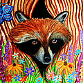 Raccoon And Butterfly by Nick Gustafson