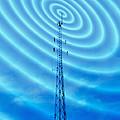 Radio Mast With Radio Waves by Mehau Kulyk