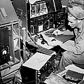 Radio Operator Operates His Scr-188 by Stocktrek Images