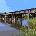 Railroad Bridge by Allan  Hughes