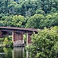 Railroad Bridge At East Falls Philadelphia by Bill Cannon