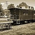 Railroad Car And Wagon by Brian Wallace