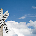 Railroad Crossing Sign by Stephanie McDowell