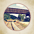 Railroad Tracks And Trestle by Phil Perkins